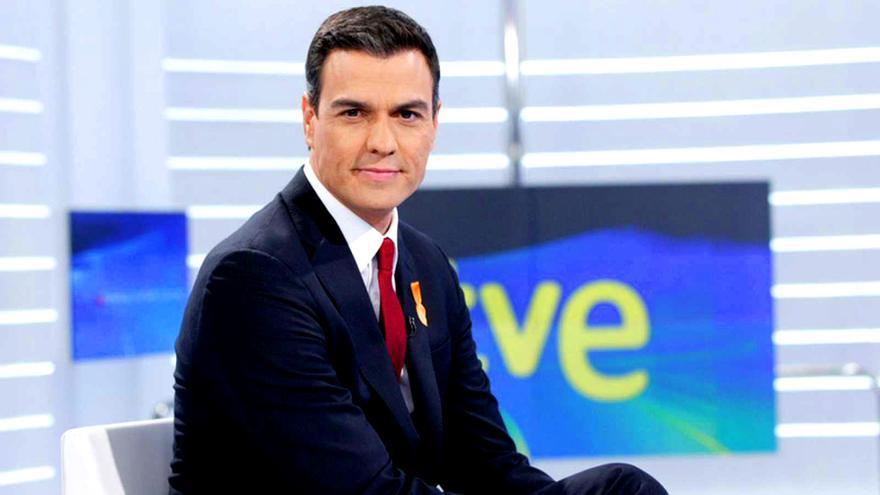 Pedro Sánchez, en una pasada entrevista a TVE