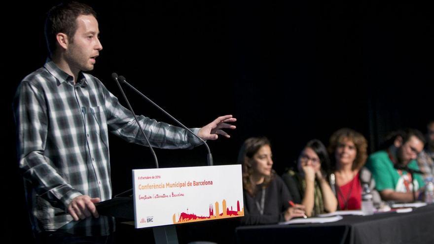 Garcías, en un acto de Esquerra en Barcelona