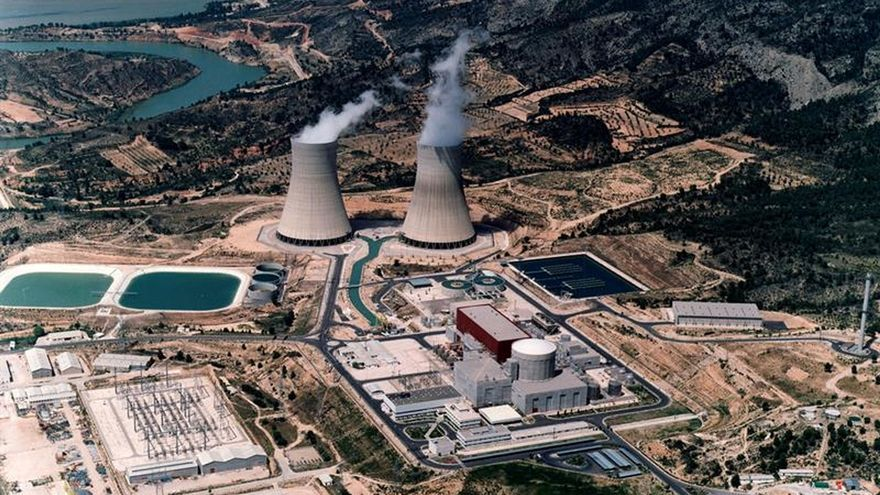Vista aérea de la central nuclear de Cofrentes