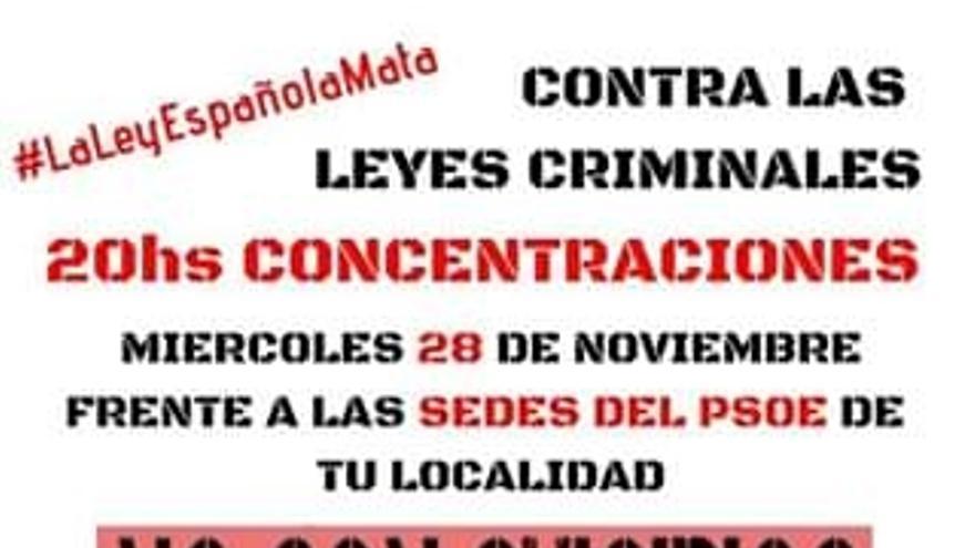 Cartel de la concentración en Guadalajara