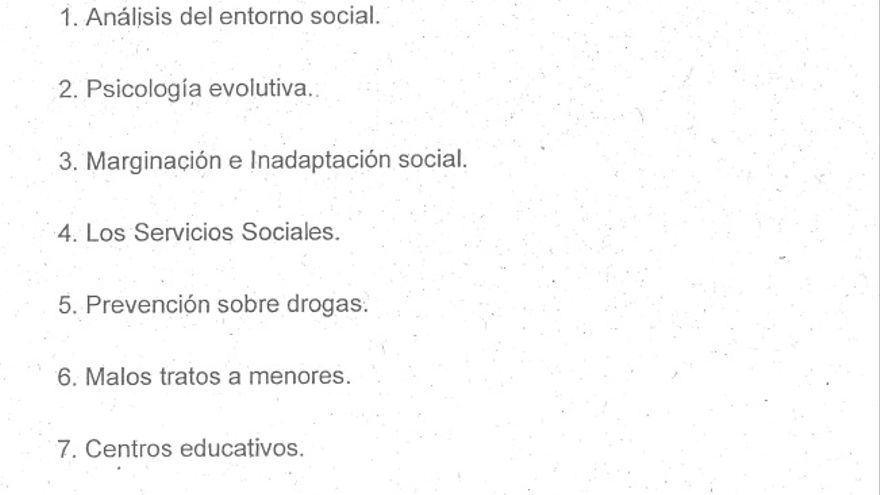 Índice del documento de Sánchez Robles