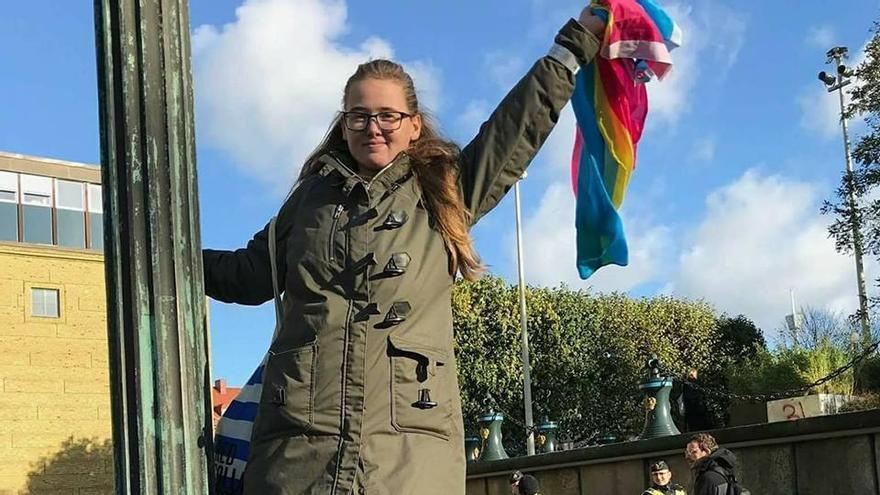 La activista Elin Ersson, en una foto de su cuenta de Facebook