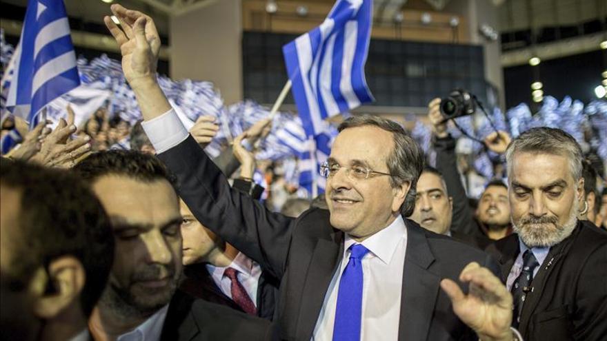 Samarás se muestra confiado en la victoria conservadora en elecciones griegas