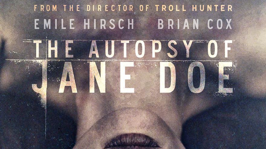 Póster de 'La autopsia de Jane Doe'