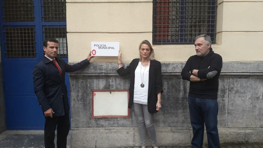Raquel González durante la presentación del Plan Bilbao Delincuencia Cero