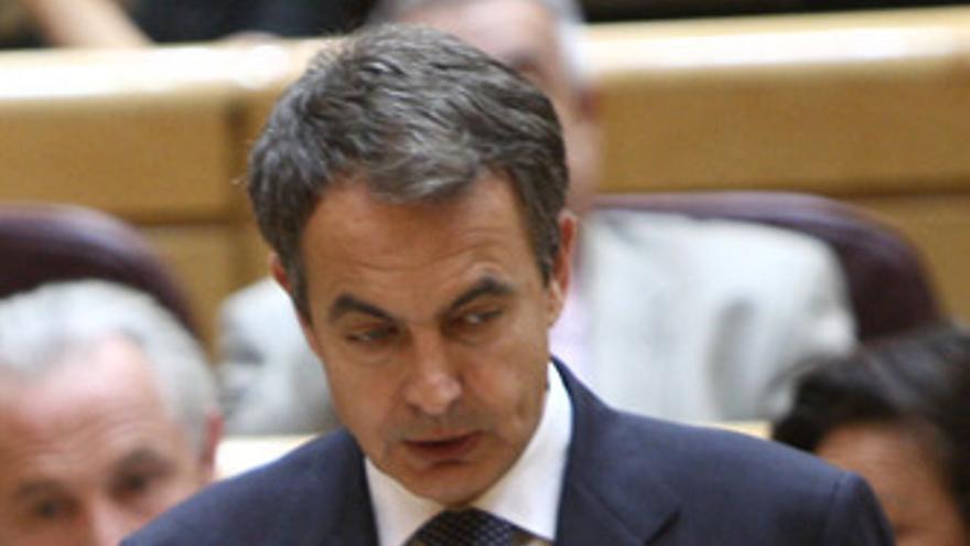 Zapatero pensativo en el Senado