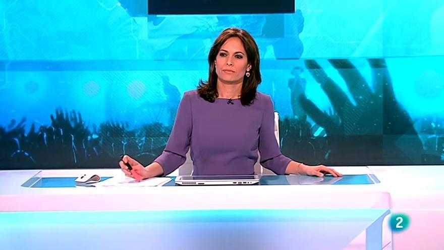 Mara Torres, en La 2 Noticias del 8M
