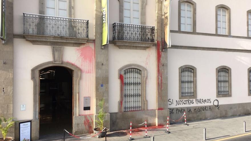 Estado en que ha quedado la fachada del edificio
