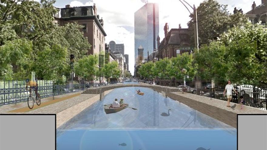 Proyecto de convertir calles en canales en Bostón