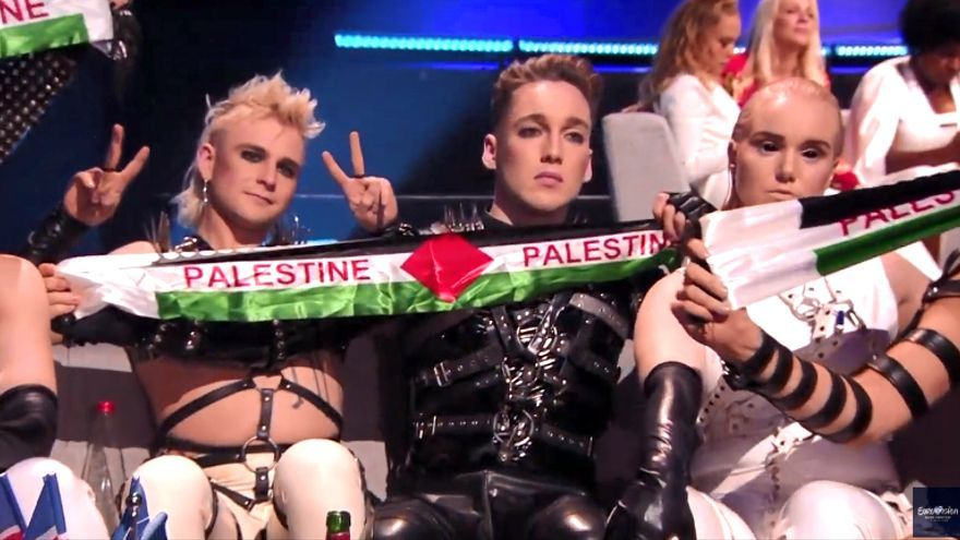 Eurovisión 2019: el momento de los islandeses apoyando a Palestina