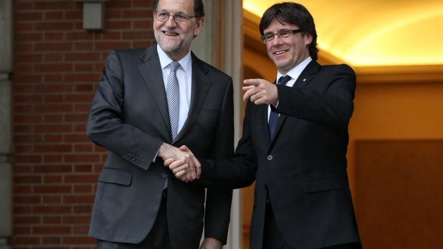 AMP- Puigdemont reafirma en Madrid que sólo queda un año para elecciones constituyentes en Cataluña por la independencia