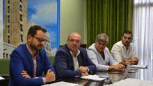 Rueda de prensa celebrada este lunes en el Cabildo.