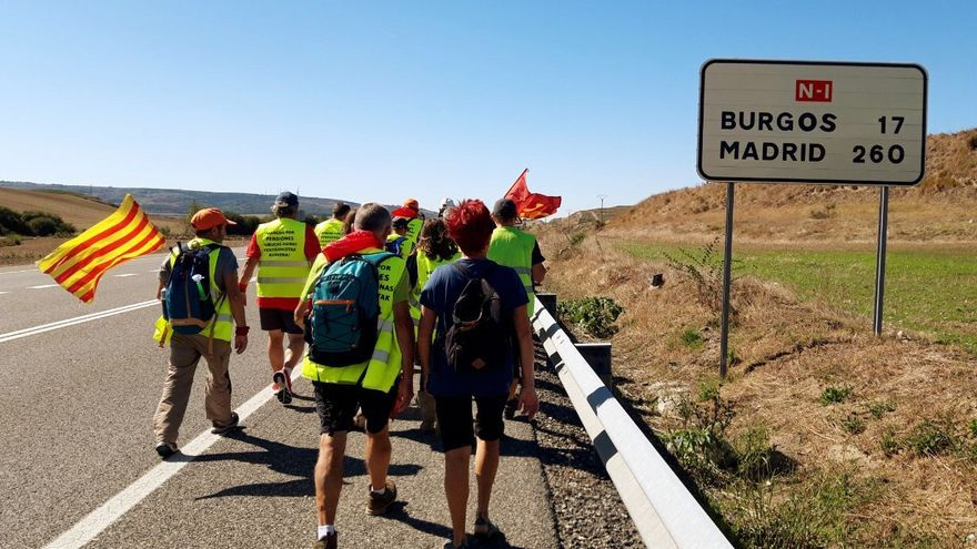 La Marcha de las Pensiones, camino de Madrid