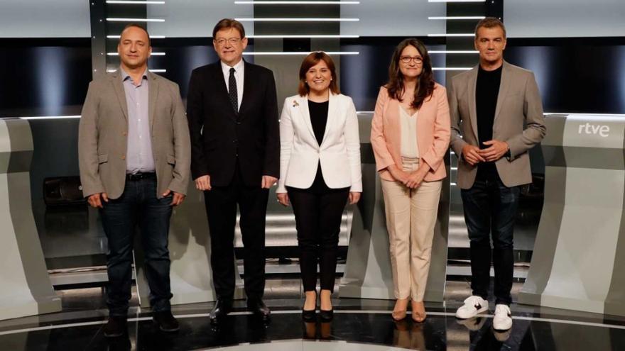 Rubén Martínez Dalmau, Ximo Puig, Isabel Bonig, Mónica Oltra y Toni Cantó