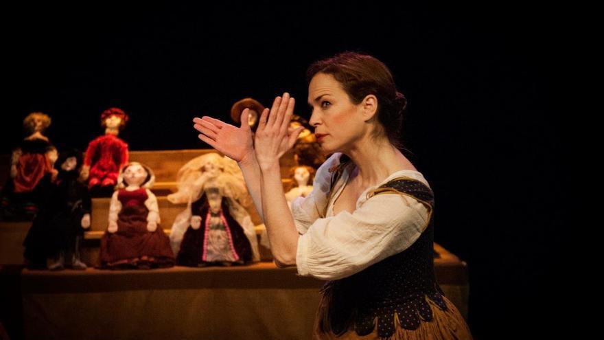 Ainhoa Amestoy durante la representación de 'Quijote.Femenino.Plural'