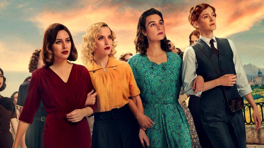 Blanca Suárez, Ana Fernández, Nadia de Santiago y Ana Polvorosa, en una imagen promocional del final de 'Las chicas del cable'