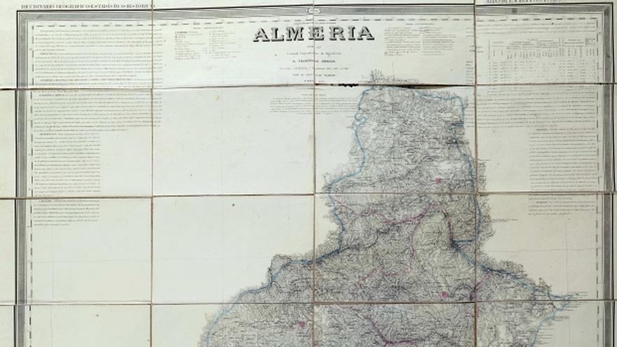 Mapa de Almería en el Atlas de España | Coello, Madoz, Leclercq, Debuissons, Bacot (Biblioteca Nacional)