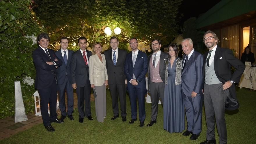 Rajoy, Santamaría, Cospedal y Alonso arropan a Maroto en la celebración de su boda en Vitoria