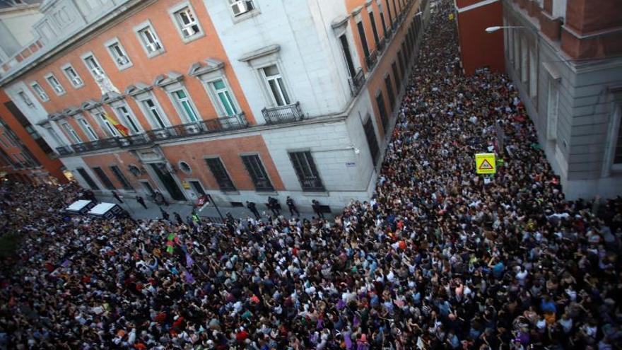 CONCENTRACIÓN EN MADRID EN APOYO A LA VÍCTIMA