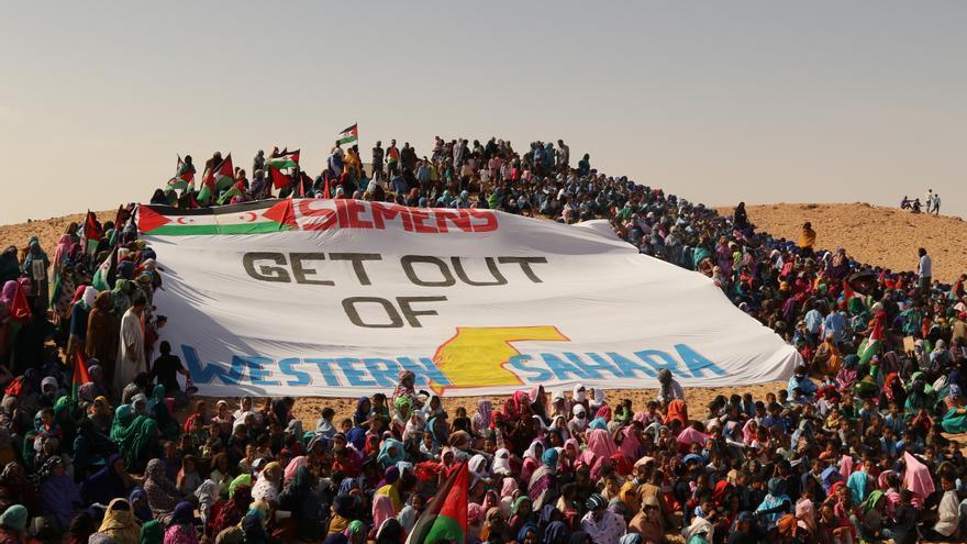 Refugiados saharauis también se manifiestaron en septiembre contra los proyectos de Siemens en la zona ocupada por Marruecos.