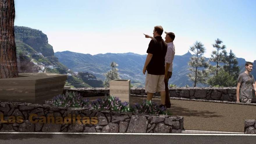 Mirador en la zona de Las Cañaditas