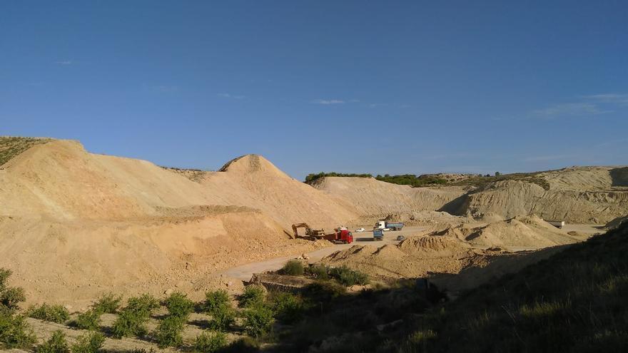 Extracción de áridos en Zeneta, Murcia