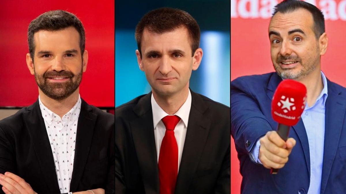 De izquierda a derecha, Jon Ariztimuño, José Pablo López y Ángel Rubio