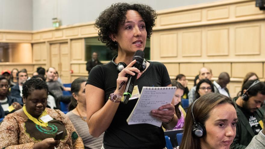 Isabel Zulueta, activista colombiana, ha sido víctima de vigilancia y sus comunicaciones han sido interferidas © Alexey Zarodov