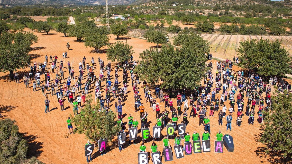 Imagen de una protesta de vecinos realizada en la zona donde se proyecta la planta.