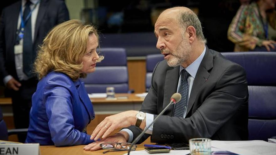 Ms Nadia CALVIÑO, Spanish Minister of Economy; Mr Pierre MOSCOVICI, European Commissioner for Economic and Financial Affairs, Taxation and Customs.