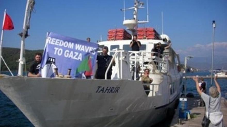 El Buque Tahrir Parte Rumbo A Gaza