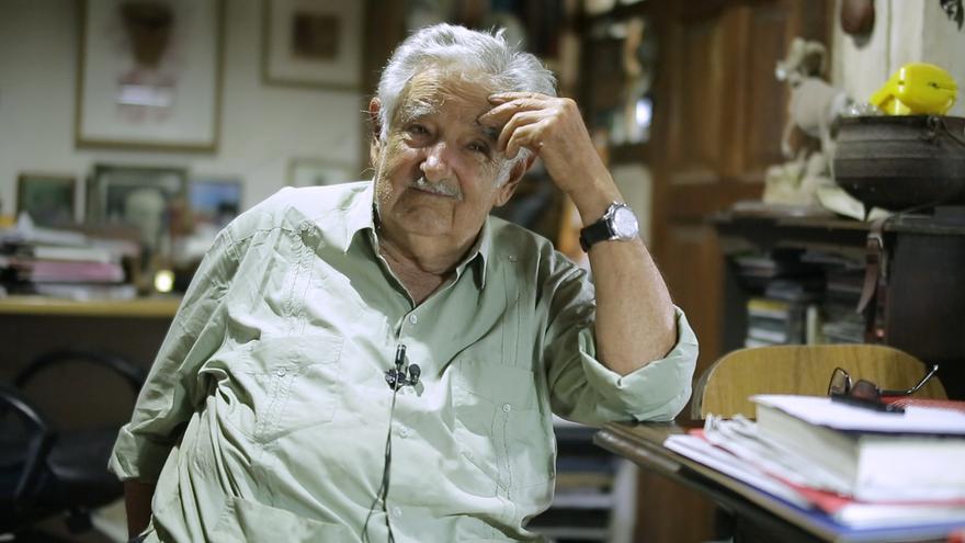 El expresidente uruguayo José Mujica, en su casa.