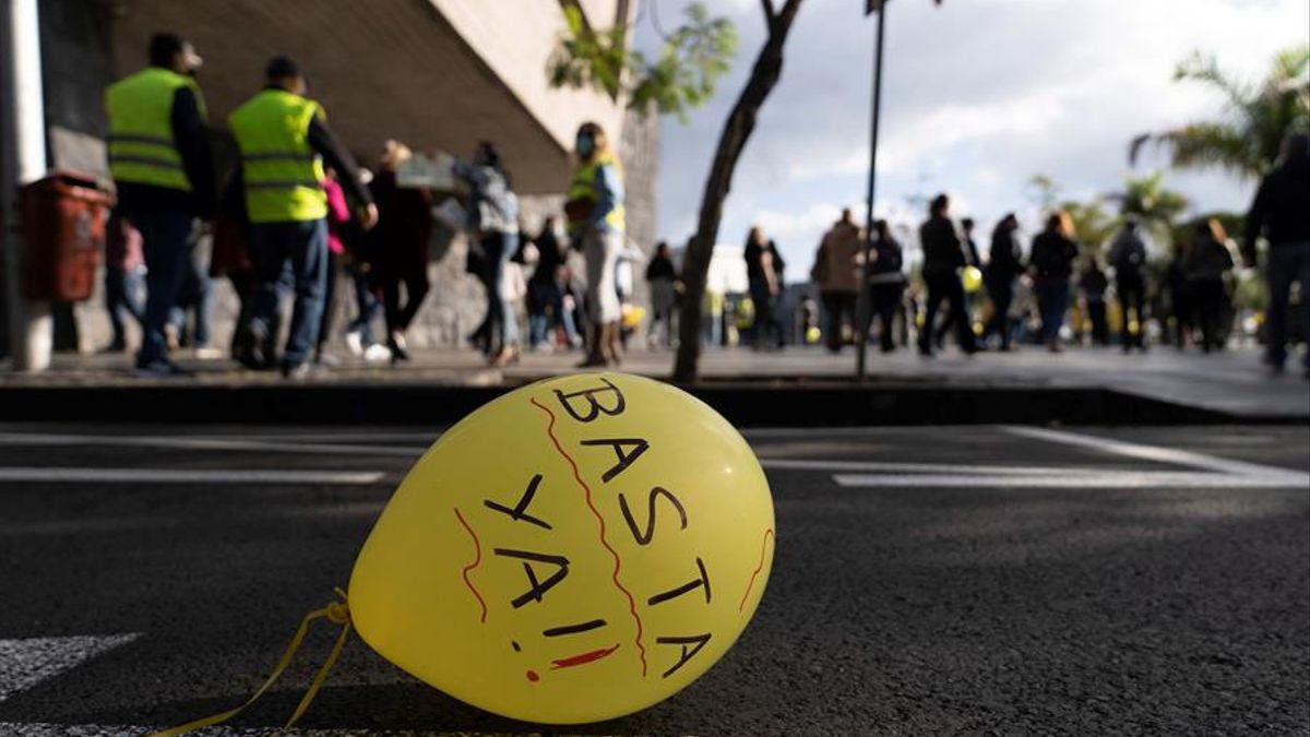 Concentraciones de los empleados públicos temporales del Gobierno de Canarias