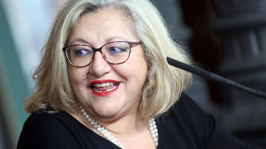 La escritora Inma Chacón presentó este viernes la adaptación de la novela 'La Voz Dormida', escrita por su hermana Dulce, fallecida en 2003.