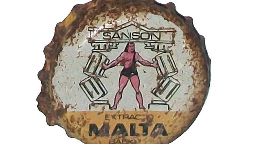 Chapa de la colección de Felix Paz, vista en http://coleccionandochapas.blogspot.com.es/2010/12/malta-sanson.html