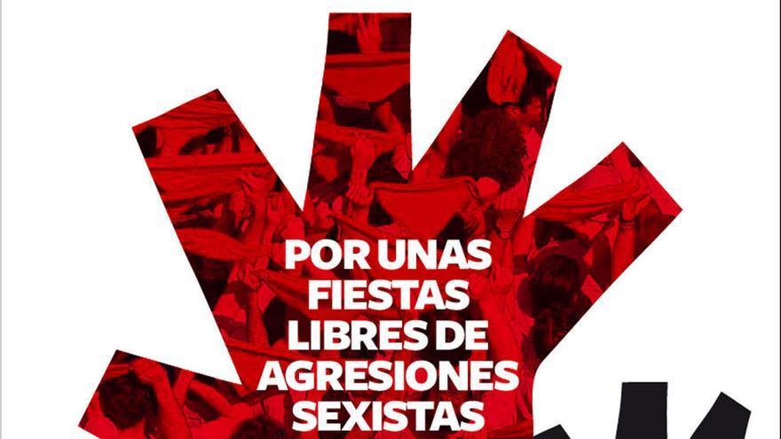 Campaña del Ayuntamiento de Pamplona contra las agresiones machistas en Sanfermines