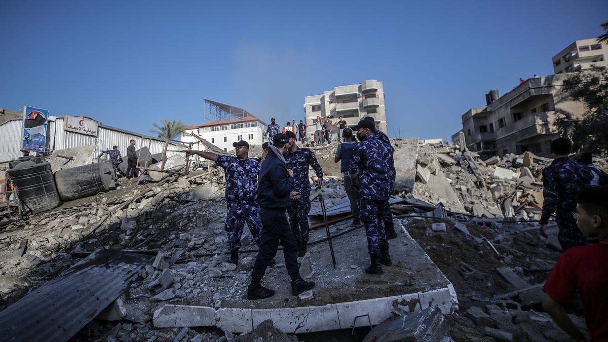 Daños por los bombardeos en Gaza.