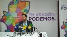 El secretario general de Podemos Aragón, Nacho Escartín, en una imagen de archivo