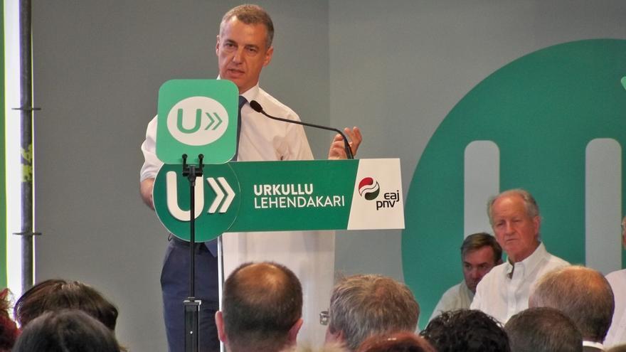 """Urkullu afirma que Euskadi necesita un gobierno """"fuerte"""" para mirar al futuro con confianza"""