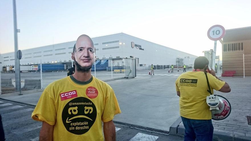 Primer día de huelga de los trabajadores de Amazon:
