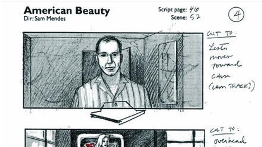 Bocetos de Conrad Hall para 'American Beauty'