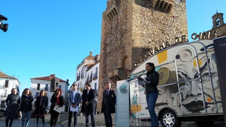 Presentación de la caravana en Cáceres