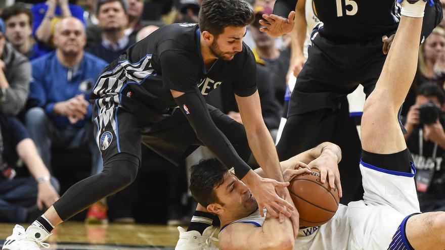 Ricky Rubio volvió a erigirse como protagonista de la noche de NBA.