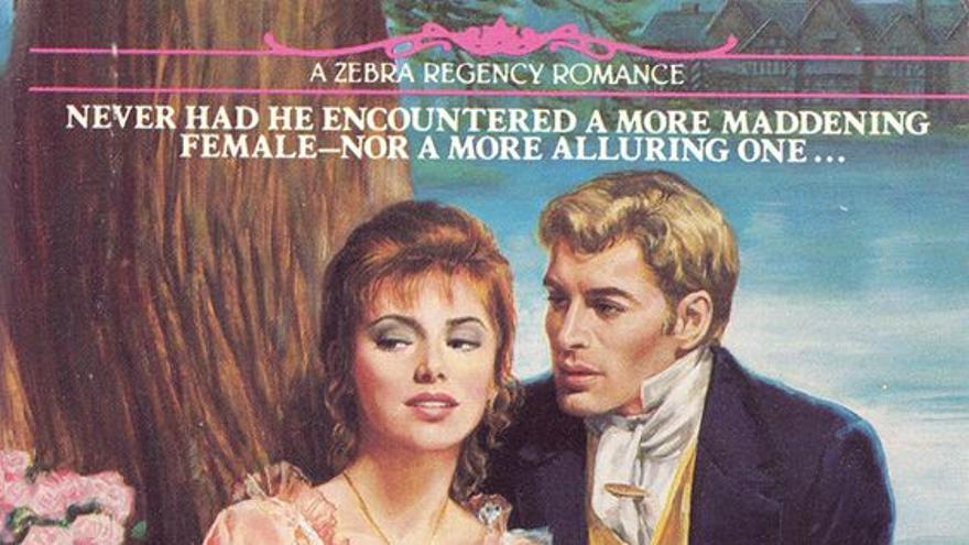 Portada de novela romántica ilustrada por Walter y Marie Popp