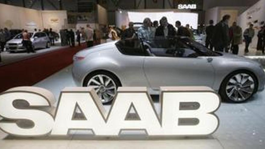 Recurso de coche y logo Saab