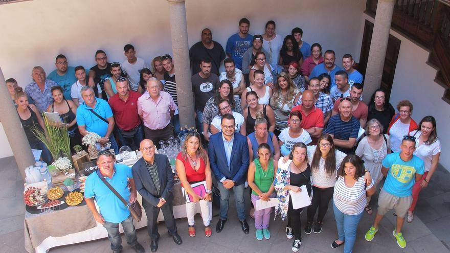 Acto de clausura del programa Servicios Integrales de Mantenimiento del Cabildo de La Palma.