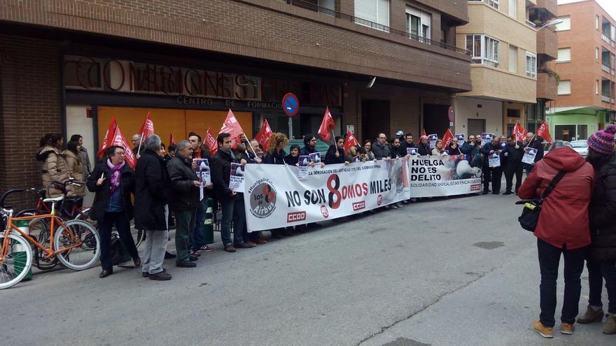 Manifestación en Albacete en apoyo a Los Ocho de Airbus / CCOO