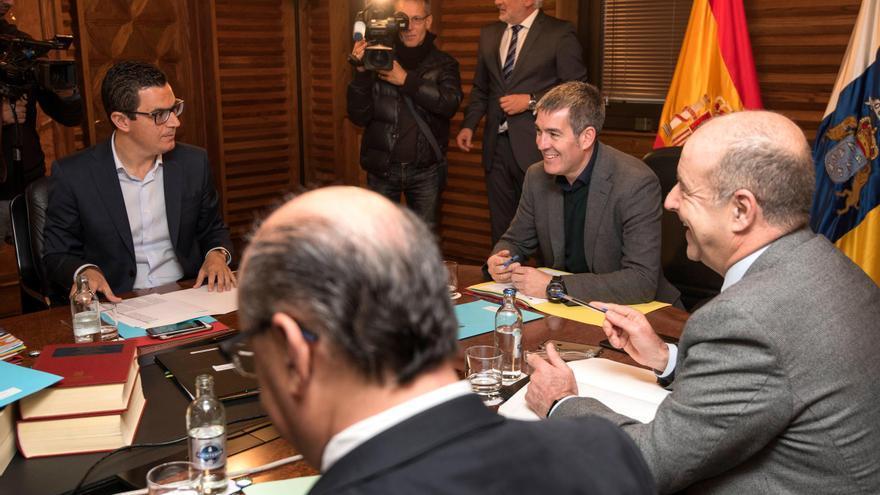 Reunión del Consejo de Gobierno de Canarias celebrada este lunes.