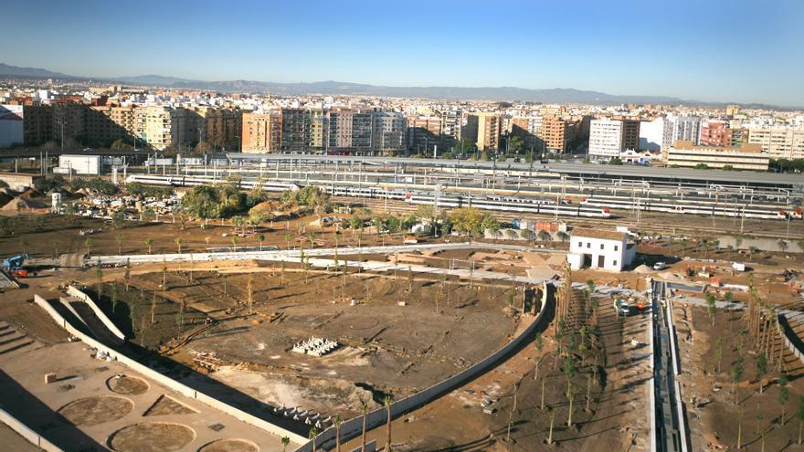 Imagen panorámica del estado actual del Parque Central