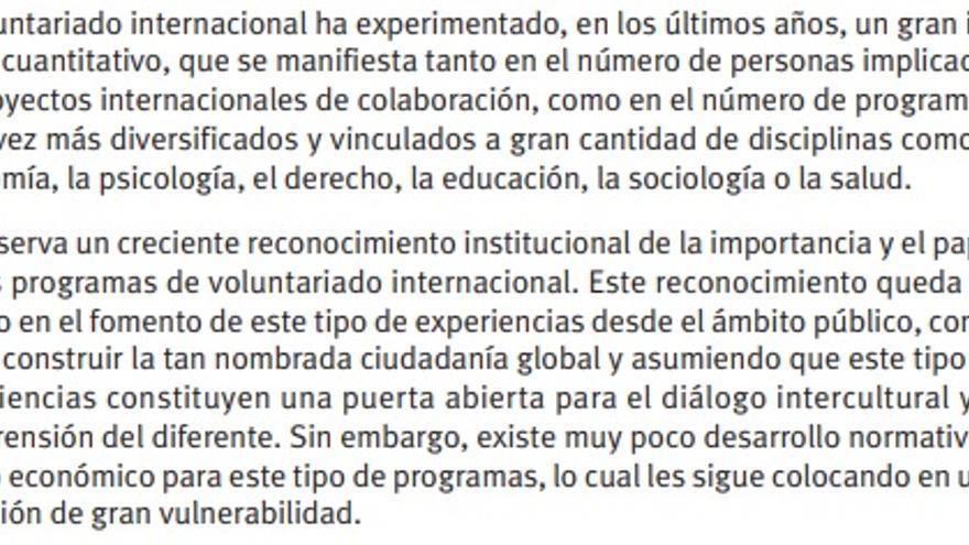 Documento de la ONG elaborado en 2011